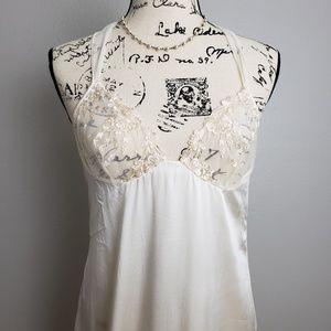 Malizia by La Perla Ivory Silk Long Nightgown Sm